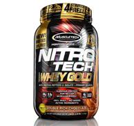 神价格!3瓶 MuscleTech肌肉科技 NitroTech 乳清蛋白粉2.2磅