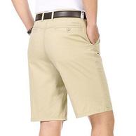 100%纯棉 帕德维斯 男士 五分西装短裤