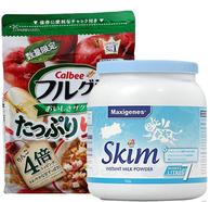 卡乐比水果麦片700g+美可卓脱脂高钙奶粉1千克
