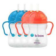 宝宝喝水神器,B.box 婴幼儿重力球吸管杯 防漏 240ml *4件
