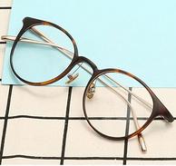 HAN 汉代 HD3506 钛塑复古眼镜架+1.56非球面防蓝光镜片