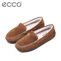 雙11預售:Ecco 愛步 女士 羊毛內襯樂福鞋