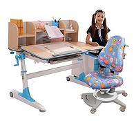 可用15年学习桌!台湾 生活诚品 8808+3301P+F307 防近视儿童桌椅组合套装