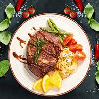 顺丰包邮:赤豪 澳洲家庭牛排套餐 10片 68元包邮 送刀叉2副和黄油