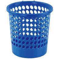 COMIX齐心 L201带扣耐用圆垃圾桶24.5cm蓝色