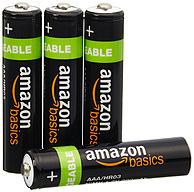 白菜价:AmazonBasics 亚马逊倍思 AAA型镍氢充电电池800mAh*4节