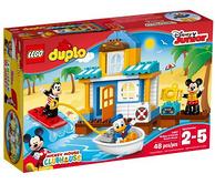 双重优惠!LEGO 乐高 DUPLO 得宝系列 10827米奇和朋友们的海滩别墅
