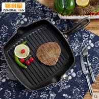 锅将军加厚牛排煎锅专用条纹