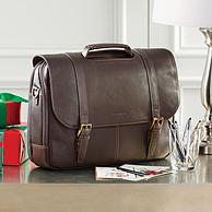 Prime会员: Samsonite 新秀丽 Colombian Leather Flapover 男士公文包 棕色 658.72元包邮包税(京东1399元)