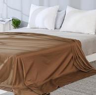 网易严选 全棉贡缎纯色床单 245*250cm 多色