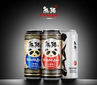 新啤尝鲜!熊猫王 精酿麦芽啤酒 9.5度 500ml*12听