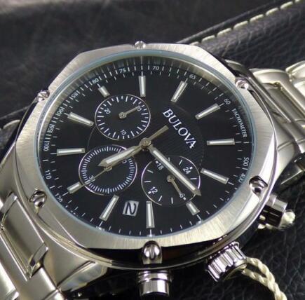 Bulova手表金盒专场,96B247 男士三眼计时腕表 640元包邮包税 买手党-买手聚集的地方