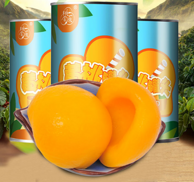 小编正在吃!桃金源 黄桃罐头 425g*5罐