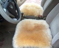 妹子最爱!威烨 纯羊毛冬季汽车坐垫(单件)