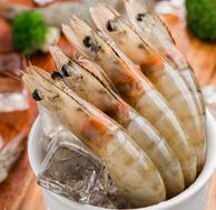 限地区:厄瓜多尔冻南美白虾 1.8kg(50-60只/kg)海鲜水产