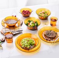 法国进口,Duralex 多莱斯 琥珀色双人餐具10件套 2色