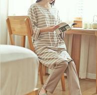 前身全开款式,网易严选 日式月子服哺乳衣套装