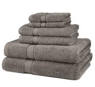 Pinzon 混合埃及棉花6件套毛巾套装,灰色