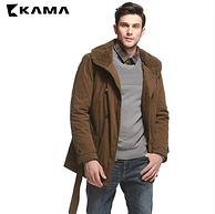 两种款型,KAMA 冬季新款 男士保暖棉服