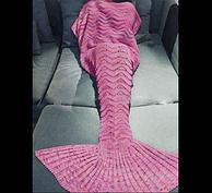 针织加厚,两尺寸统一价,美人鱼尾巴沙发盖毯