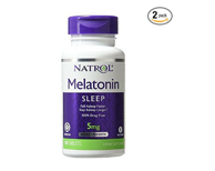 Natrol Melatonin 褪黑素助眠片 5mg 100片*2瓶