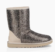 限6/7码:UGG CLASSIC SHORT FRILL 女士粗花呢中筒雪地靴