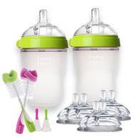 Comotomo 奶瓶奶嘴套装(250ml 奶瓶*2+奶嘴6个+奶瓶刷2个)
