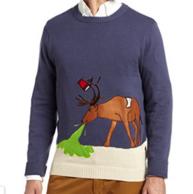 限S码:Alex Stevens 男士 麋鹿印花 针织衫