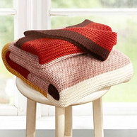 白菜价!罗莱 HOME-Q952简单百搭条纹针织毯