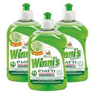 Winni's 薇倪丝 天然植萃浓缩洗洁精500ml*3瓶