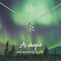 Lily charmed 雪花造型 925纯银项链