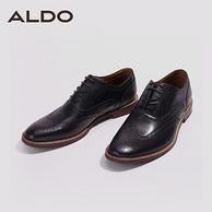 限US7.5码:加拿大 Aldo 布洛克 男士雕花皮鞋
