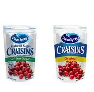 Ocean Spray 蔓越莓果干142g原味+142g减糖味