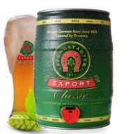 德国进口 Pfungstadter 福斯特 黄啤酒5L桶装