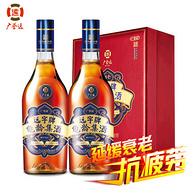 广誉远 招牌产品 养生保健龟龄集酒 500ml*2瓶 礼盒装