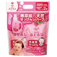 Prime会员:arau 婴幼儿洗衣液替换装720ml*2