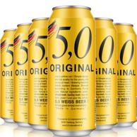 限地区:德国原装 5.0 Original 自然浑浊型小麦啤酒500ml*6听*5件
