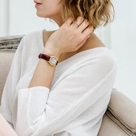 12期免息!一线奢侈品牌 德国 Aigner 镶钻女士腕表