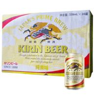 Plus会员:Kirin 麒麟 纯真味啤酒 330ml*24听