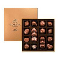 Godiva 歌帝梵 金装牛奶巧克力礼盒 18颗 220g