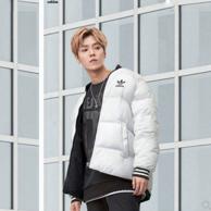 鹿晗同款 adidas 阿迪达斯 保暖棉衣BR4791