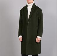 春季新款!碧舍 男士中長款毛呢大衣 外套