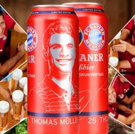 德国高端啤酒:Paulaner 保拉纳 柏龙 拜仁球迷版 小麦白啤 500ml*12听 *2件