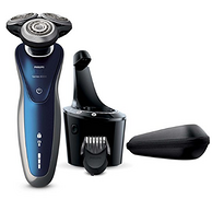 带清洁桶,Philips Norelco 8900 干湿两用电动剃须刀