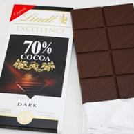 Lindt 瑞士莲 70%可可 特醇黑巧克力100g*5件