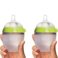 两只装 Comotomo 可么多么 婴儿硅胶奶瓶150ml