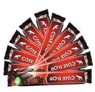 最好吃的巧克力之一!47g*10条 比利时进口Cote D'or 克特多金象 牛奶巧克力条