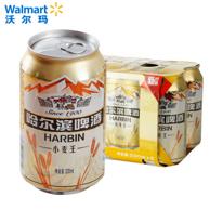 哈尔滨 小麦王啤酒 330ml*6瓶