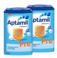 0-6个月!800g*2罐 Aptamil 德国爱他美Pre段  婴幼儿配方奶粉