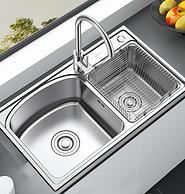 304不锈钢,箭牌 AEO4B10378 双槽厨房洗菜盆